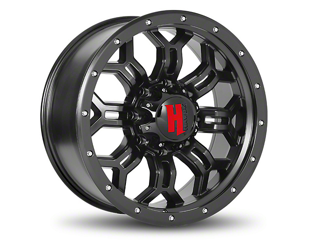 Havok Off-Road H-108 Matte Black Wheel - 20x12 (07-18 Wrangler JK)