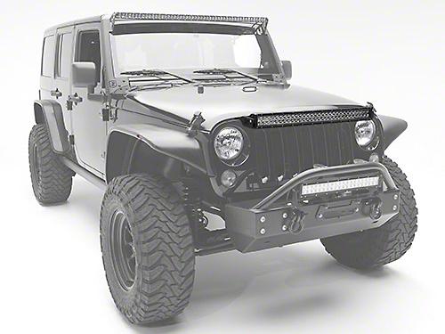 ZRoadz 30 in. LED Light Bar Hood Mounting Brackets (07-18 Jeep Wrangler JK)