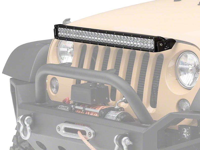 ZRoadz 30 in. LED Light Bar w/ Hood Mounting Brackets (07-18 Jeep Wrangler JK)