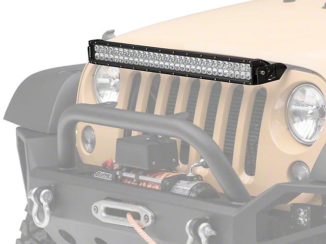 ZRoadz 30 in. LED Light Bar w/ Hood Mounting Brackets (07-18 Wrangler JK)