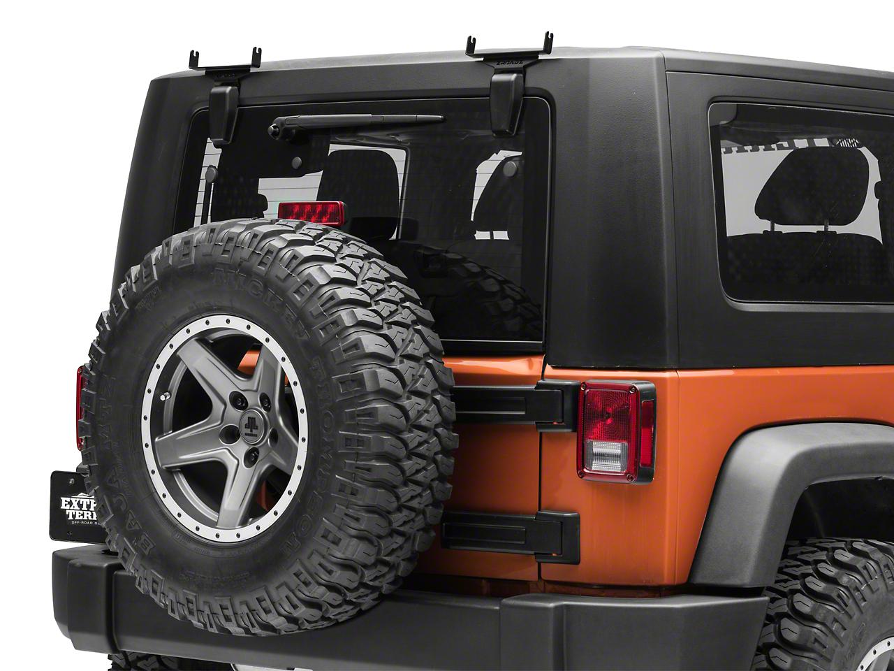 ZRoadz 6 in. Slim LED Light Bars Rear Window Hinge Mounting Brackets (07-18 Jeep Wrangler JK)