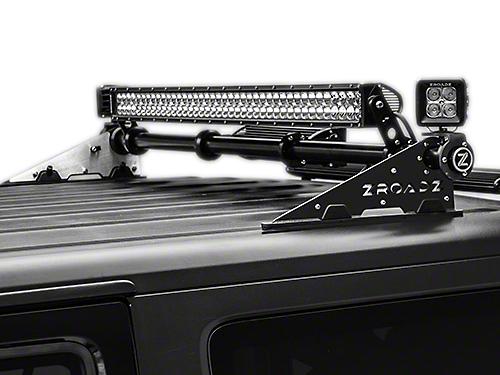 ZRoadz Rear Roof Modular Rack MegaWatt Mounting System w/o Lights (07-18 Jeep Wrangler JK)