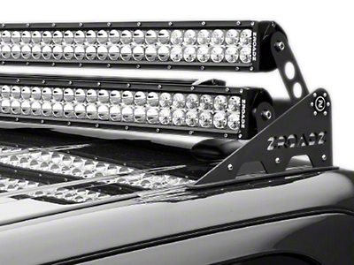 ZRoadz Modular Roof Add-On Dual LED Light Bar Mount (87-18 Wrangler YJ, TJ, JK & JL)