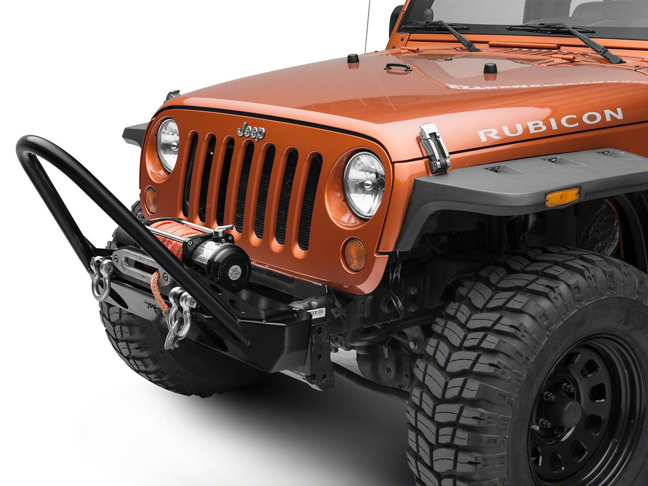 Poison Spyder BFH II Front Bumper w/ Trail Stinger - SpyderShell Armor Coat (07-18 Jeep Wrangler JK)