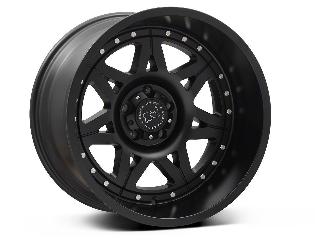 Black Rhino Hammer Matte Black Wheels (07-18 Wrangler JK; 2018 Wrangler JL)