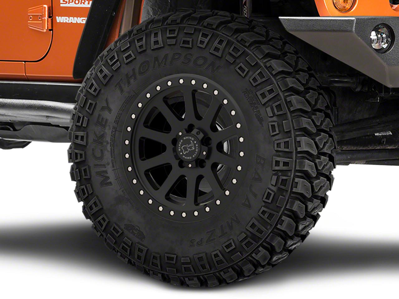 Black Rhino Mint Matte Black Wheel - 17x9 (07-18 Jeep Wrangler JK; 2018 Jeep Wrangler JL)