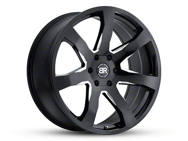 Black Rhino Mozambique Gloss Black Wheel; 18x8.5 (18-20 Jeep Wrangler JL)