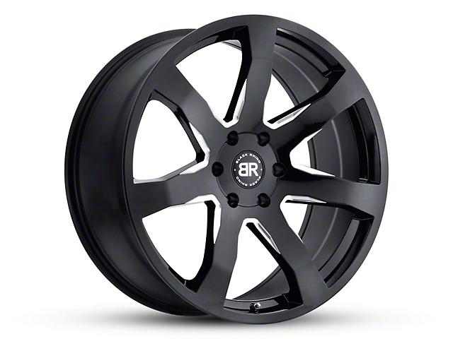 Black Rhino Mozambique Gloss Black Wheel; 20x8.5 (18-20 Jeep Wrangler JL)