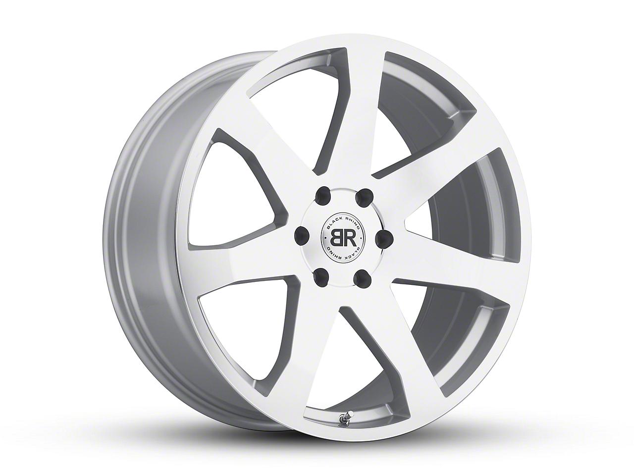 Black Rhino Mozambique Silver Wheels (07-18 Wrangler JK; 2018 Wrangler JL)