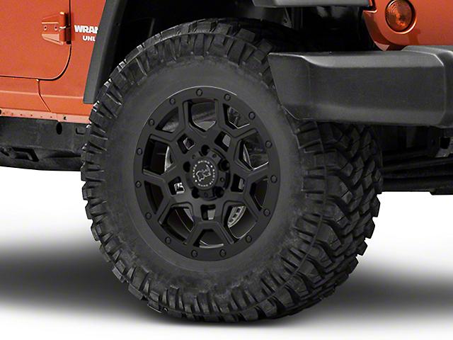 Black Rhino Overland Matte Black Wheel; 17x8 (07-18 Jeep Wrangler JK)