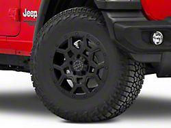 Black Rhino Overland Matte Black Wheel; 17x8 (18-20 Jeep Wrangler JL)