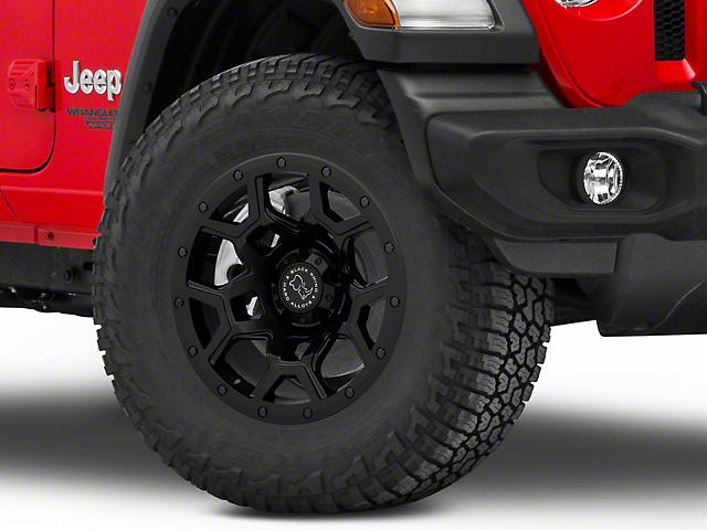 Black Rhino Overland Matte Black Wheel; 17x9.5 (18-20 Jeep Wrangler JL)