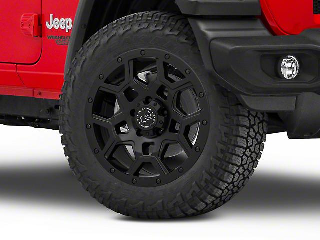 Black Rhino Overland Matte Black Wheel; 20x9.5 (18-20 Jeep Wrangler JL)