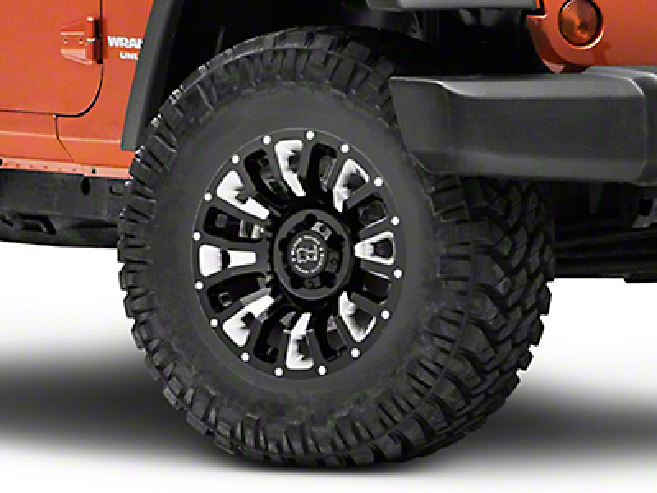 Black Rhino Pinatubo Gloss Black Wheel - 17x9.5 (07-18 Jeep Wrangler JK; 2018 Jeep Wrangler JL)