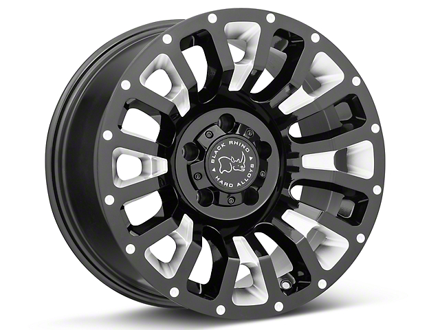 Black Rhino Pinatubo Gloss Black Wheels (07-18 Wrangler JK; 2018 Wrangler JL)