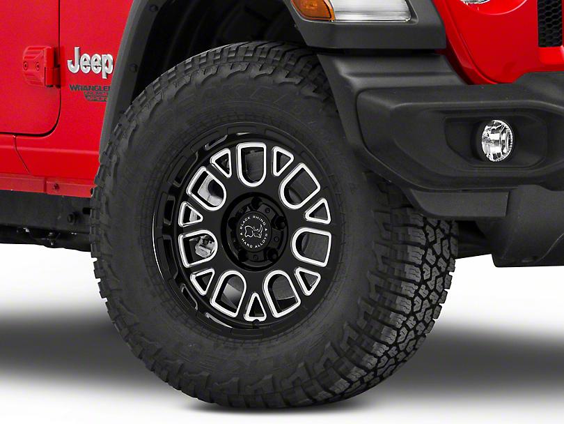 Black Rhino Pismo Gloss Black Wheel; 17x9.5 (18-20 Jeep Wrangler JL)