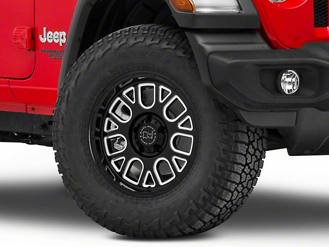 Black Rhino Pismo Gloss Black Wheel; 17x9.5; -18mm Offset (18-20 Jeep Wrangler JL)