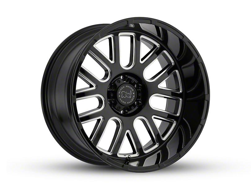 Black Rhino Pismo Gloss Black Wheel; 20x9.5 (18-20 Jeep Wrangler JL)