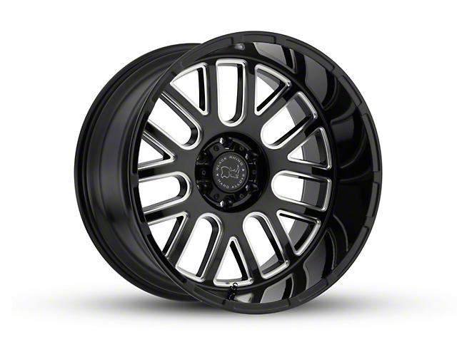 Black Rhino Pismo Gloss Black Wheel; 20x9.5; -18mm Offset (18-20 Jeep Wrangler JL)