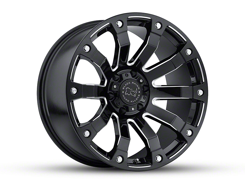 Black Rhino Selkirk Gloss Black Milled Wheel; 20x10 (18-20 Jeep Wrangler JL)