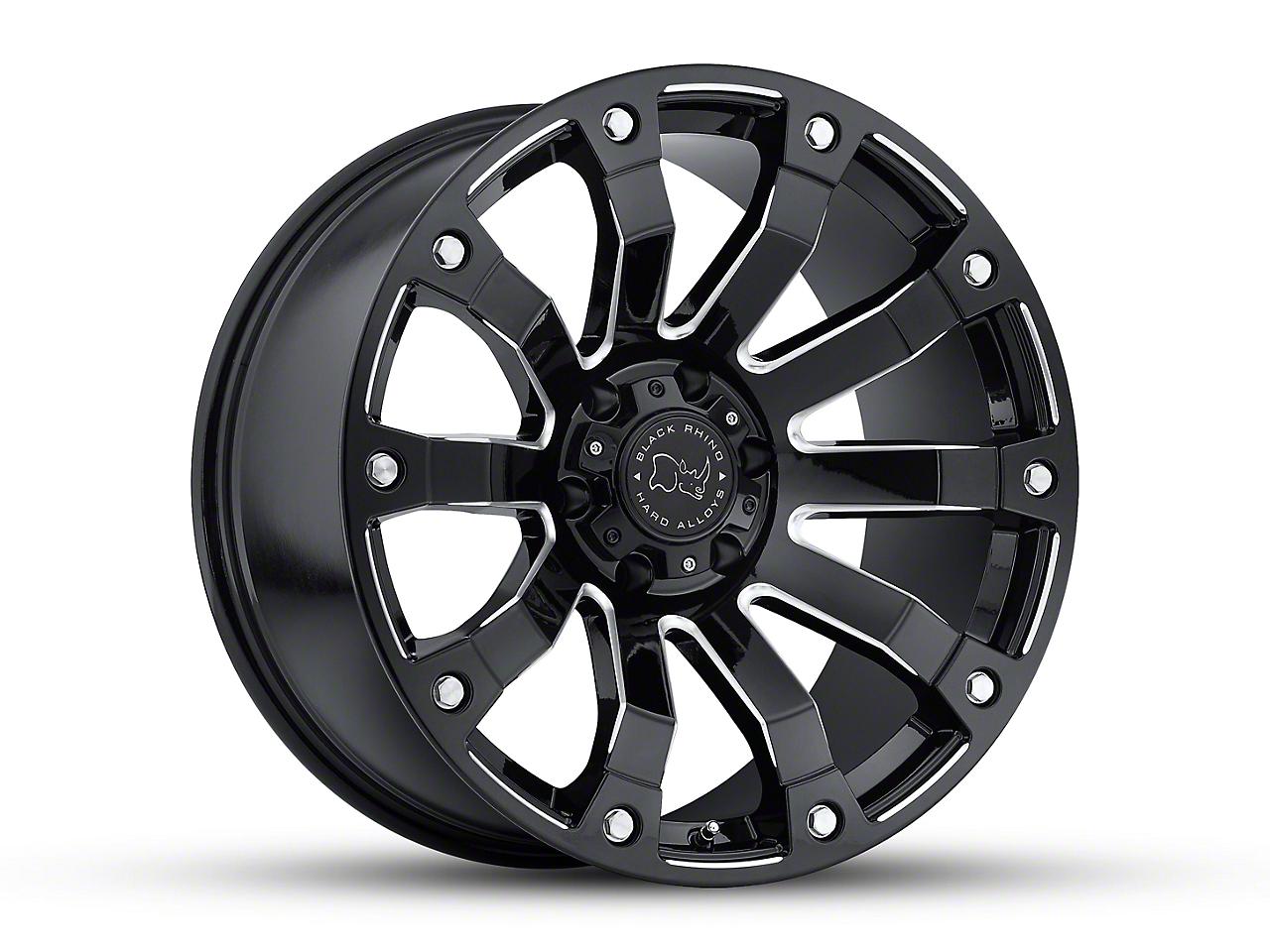 Black Rhino Selkirk Gloss Black Milled Wheels (07-18 Wrangler JK; 2018 Wrangler JL)