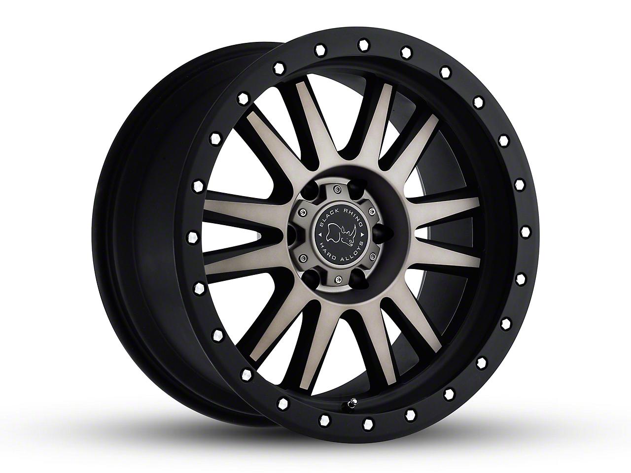 Black Rhino Tanay Matte Black Graphite Wheel - 17x9 (07-18 Jeep Wrangler JK; 2018 Jeep Wrangler JL)