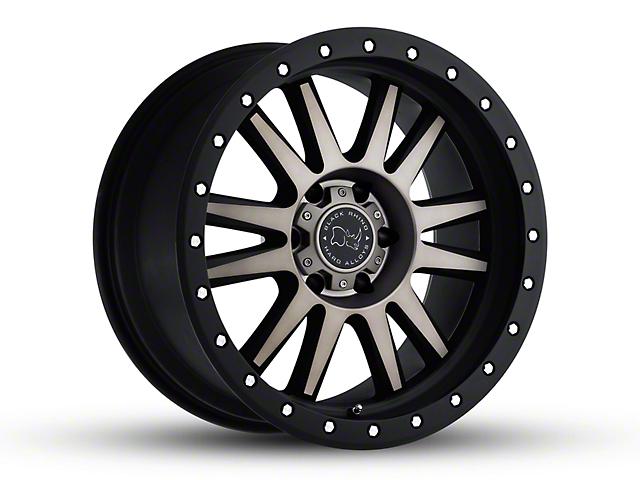 Black Rhino Tanay Matte Black Machined Wheel - 17x9 (07-18 Jeep Wrangler JK)