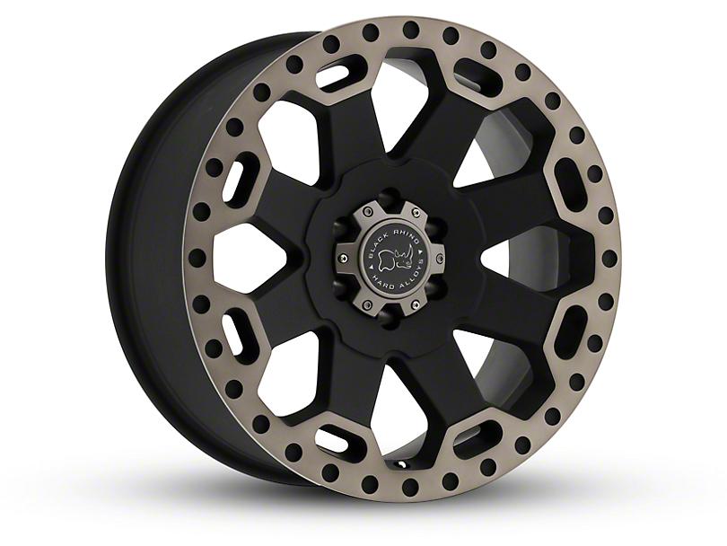 Black Rhino Warlord Matte Black Machined Wheel; 17x8 (18-20 Jeep Wrangler JL)