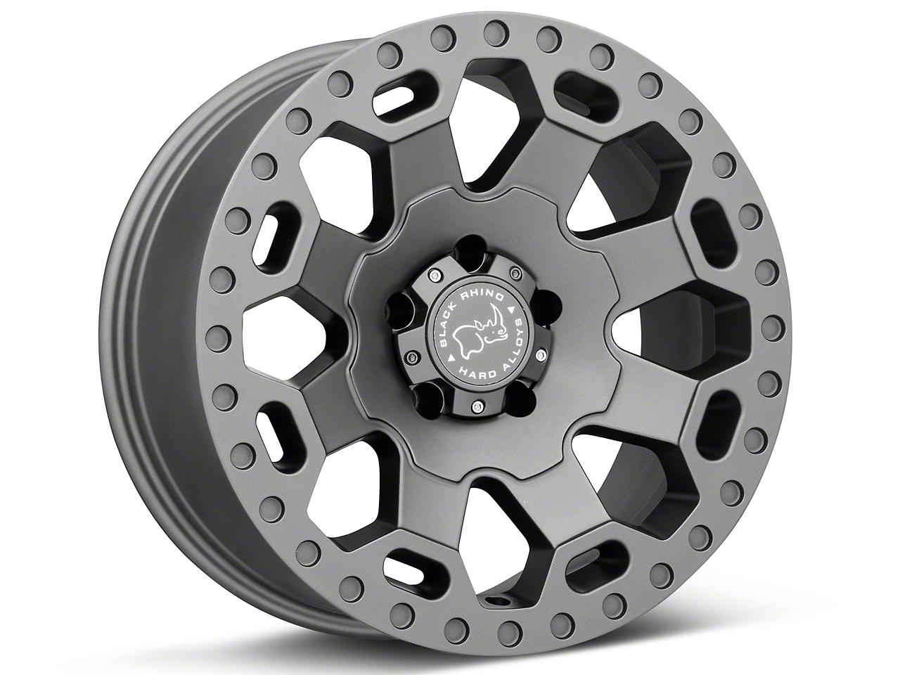 Black Rhino Warlord Matte Gunmetal Wheels (07-18 Wrangler JK; 2018 Wrangler JL)