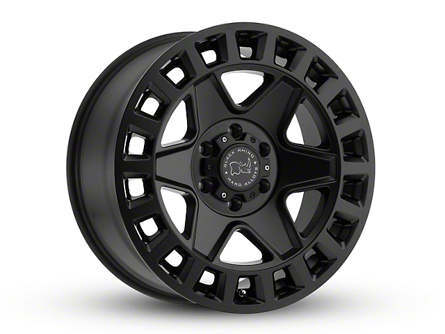 Black Rhino York Matte Black Wheel; 20x9 (18-20 Jeep Wrangler JL)