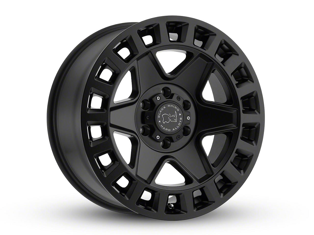 Black Rhino York Matte Black Wheels (07-18 Wrangler JK; 2018 Wrangler JL)