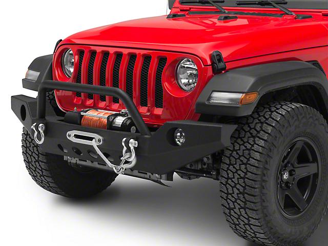 RedRock 4x4 Full Width Winch Front Bumper with Halogen Fog Lights (18-20 Jeep Wrangler JL)