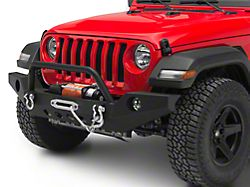 RedRock 4x4 Full Width Front Bumper w/ Halogen Fog Lights & Winch Mount (18-19 Jeep Wrangler JL)