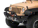 RedRock 4x4 Full Width Front Bumper w/ Halogen Fog Lights & Winch Mount (07-18 Jeep Wrangler JK)