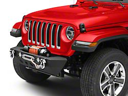 RedRock 4x4 Stubby Winch Front Bumper with LED Fog Lights (18-20 Jeep Wrangler JL)