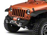 RedRock 4x4 Max-HD Stubby Front Bumper with LED Fog Lights and Winch Mount (07-18 Jeep Wrangler JK)