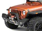 RedRock 4x4 Max-HD Full Width Front Bumper w/ LED Light Bar, Fog Lights & Winch Mount (07-18 Jeep Wrangler JK)