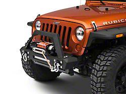 RedRock 4x4 Max-HD Stubby Front Bumper w/ LED Light Bar & Winch Mount (07-18 Jeep Wrangler JK)