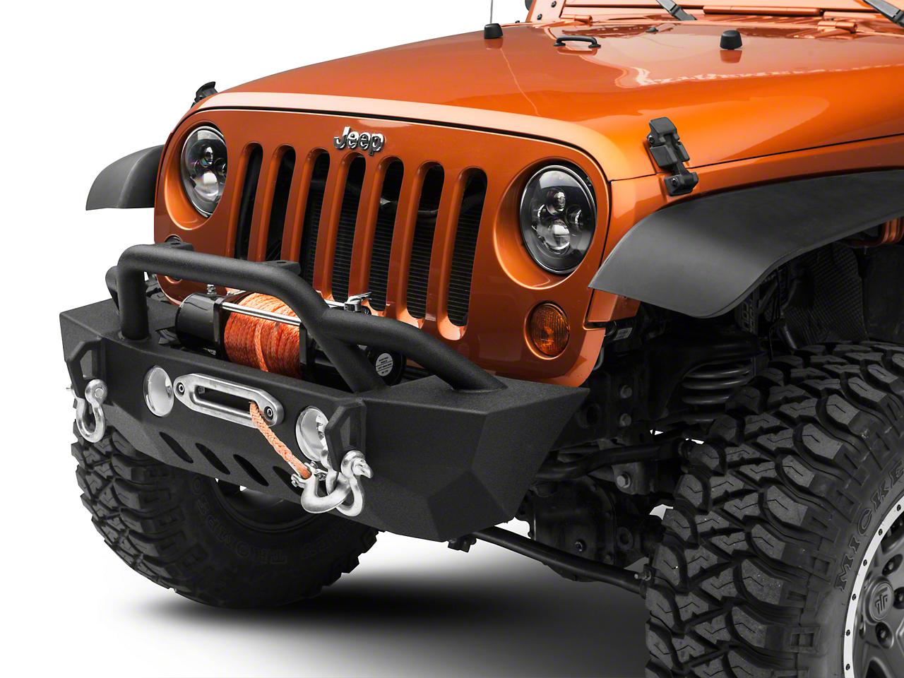 RedRock 4x4 Crawler Stubby Front Bumper w/ Winch Mount (07-18 Wrangler JK)