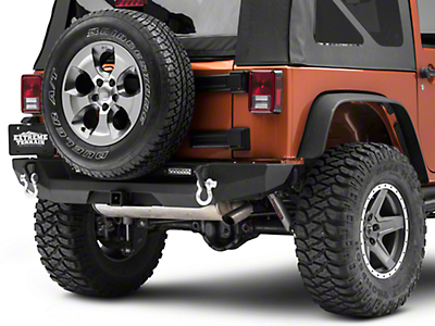 RedRock 4x4 Max-HD Rear Bumper w/ LED Fog Lights (07-18 Jeep Wrangler JK)