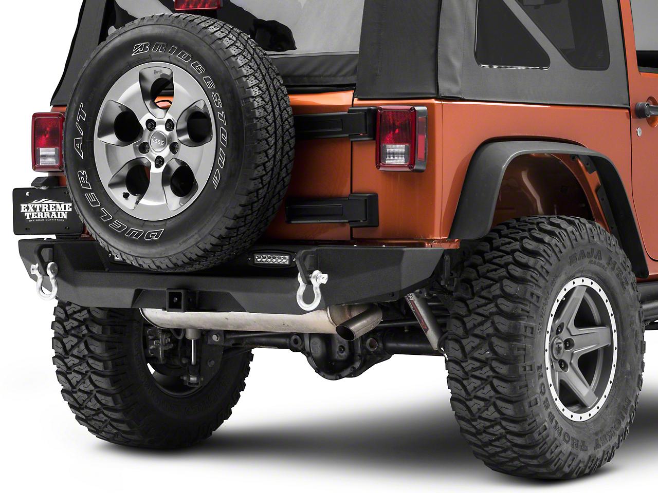 RedRock 4x4 Max-HD Rear Bumper w/ LED Fog Lights (07-18 Wrangler JK)