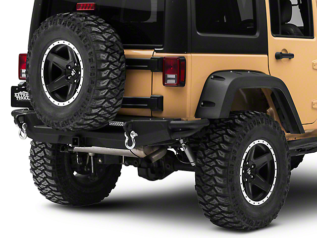 RedRock 4x4 Crawler Rear Bumper w/ LED Fog Lights (07-18 Jeep Wrangler JK)