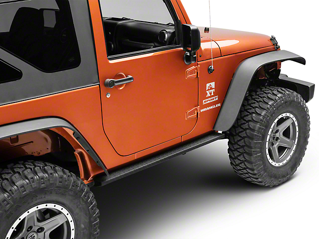 RedRock 4x4 HD Rocker Steps - Straight (07-18 Jeep Wrangler JK 2 Door)
