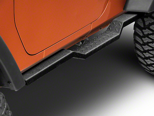 RedRock 4x4 HD Rocker Steps - Textured Black (07-18 Jeep Wrangler JK 2 Door)