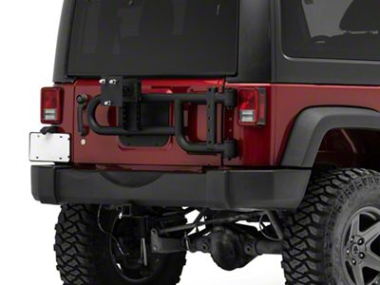 RedRock 4x4 HD Tire Carrier for OEM Tail Gate (07-18 Jeep Wrangler JK)