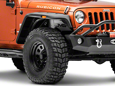DV8 Off-Road Front Inner Fenders w/ LED Rock Lights (07-18 Wrangler JK)