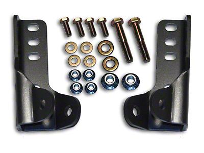 Synergy Front & Rear Lower Shock Relocation Kit (07-18 Wrangler JK)