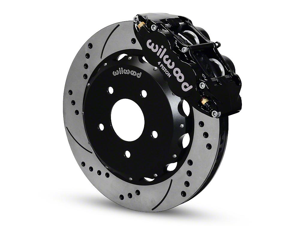 Wilwood Superlite 4R Front Brake Kit w/ Drilled & Slotted Rotors - Black (07-18 Wrangler JK)