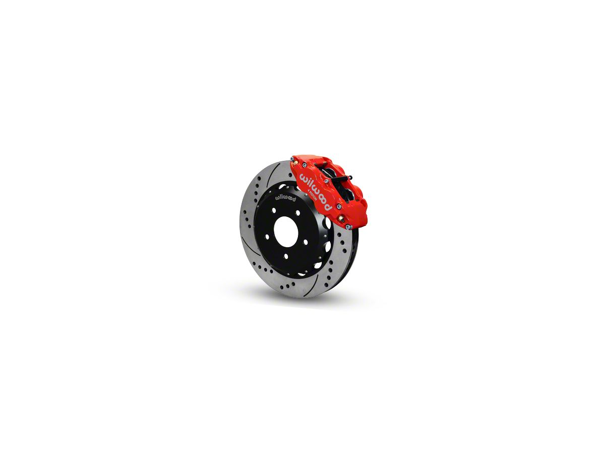 Wilwood Superlite 4R Front Big Brake Kit w/ Drilled & Slotted Rotors - Red  Calipers (07-18 Jeep Wrangler JK)