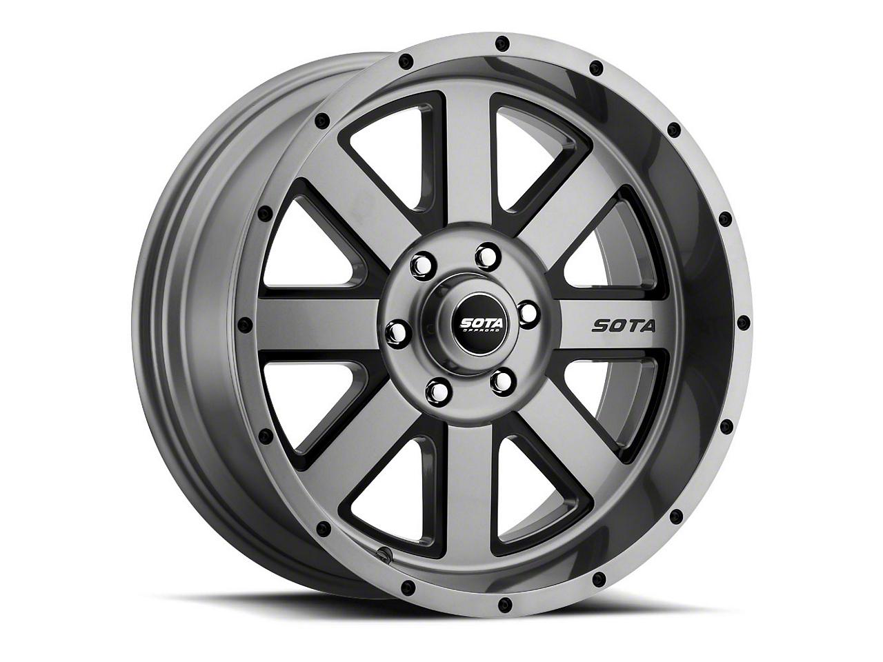 SOTA Off Road A.W.O.L. Anthra-Kote Black Wheels (07-18 Jeep Wrangler JK; 2018 Jeep Wrangler JL)